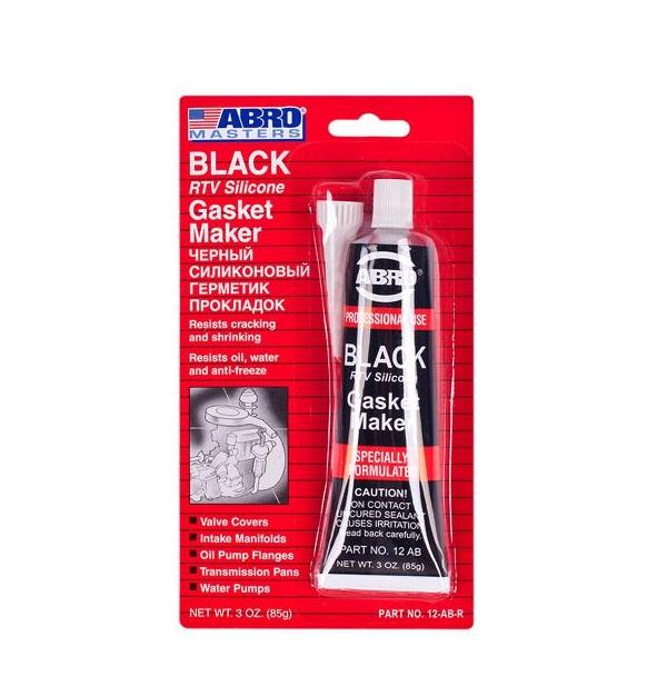 abro Герметик прокладок Abro AB-12 Black China (85г) 12-AB CH(12)