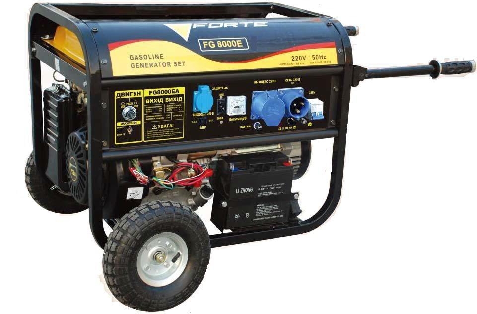 Генератор бензиновый forte Forte FG8000E бензиновый